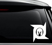 Deadliest Warrior Decal Sticker For Use On Laptop, Helmet, Car, Truck, Motorcycle, Windows, Bumper, Wall, and Decor Size- [6 inch] / [15 cm] Tall / Colour- Gloss Black