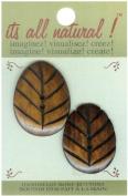 Handmade Bone Buttons-Natural - Oval Carved 2/Pkg