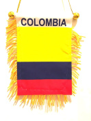 Small Colombia Colombian Colombia flag for car windows rearview mirror Colombia car flag