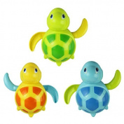 Danapp 1 PC New Born Babies Swim Turtle Wound-up Chain Small Animal Bath Toy