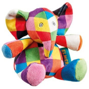 Elmer the Patchwork Elephant Baby Safe Rattle Soft Toy