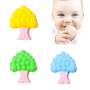 Pueri Silicone Baby Teether Natural Organic Pain Relief Teething Toys for Baby Infant & Toddler