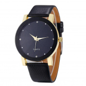 Fashion Watches ,Luxury Quartz Sport Military Stainless Steel Dial Leather Band Wrist Watch