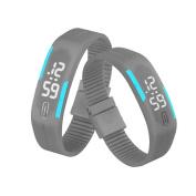 Fashion Watches ,Mens Womens Rubber LED Watch Date Sports Bracelet Digital Wrist Watch B & R
