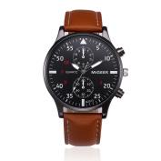 Fashion Watches ,Retro Design Leather Band Analogue Alloy Quartz Wrist Watch