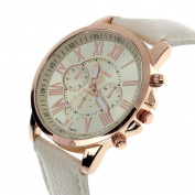 Fashion Watches ,Fashion Geneva Roman Numerals Faux Leather Analogue Quartz Women Wrist Watch
