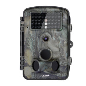 LESHP Game and Trail Camera 12MP 1080P HD With Time Lapse 20m 120¡ã Wide Angle Infrared Night Vision 42pcs IR LEDs Waterproof IP66 6.1cm LCD Screen Scouting Camera Deer Camera Digital Surveillance