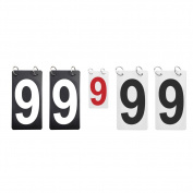 GOGO Double Sides Replacement Number Cards for Scoreboard, Plastic Flip Score Reporter
