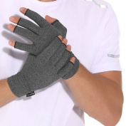 Arthritis Compression Gloves Relieve Pain from Rheumatoid, RSI,Carpal Tunnel, Hand Gloves Fingerless for Computer Typing and Dailywork, Support For Hands And Joints by DISUPPO