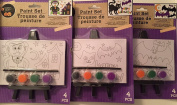 HOLIDAY PAINT SET (THREE COUNT) INCLUDES EASEL & FOUR PAINTS & BRUSH