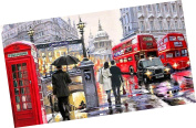Wowdecor Paint by Numbers Kits for Adults Kids, Number Painting - London Bustling Streets 41cm x 50cm