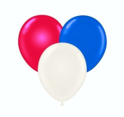 (SPECIAL PRICE) 28cm Red White and Blue Patriotic Latex Balloons 100 per Bag