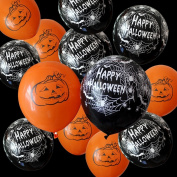 100PCS Latex Creepy Pumpkin Balloon Spider Web Balloons for Party Decoration HALLOWEEN