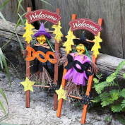 Hongxin Halloween Decoration Decoration Scene Layout Props Witch Decorated Wooden Ladder