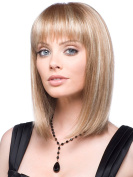 MIKWIG Casual Bob Straight Mid-length Straight Synthetic Hair Wigs for Women + Wig Cap