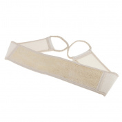 MagiDeal Natural Loofah Bath Brush Exfoliating Back Strap Body Scrubber Brush - Beige