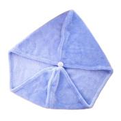 Xiaoyu 2PCS Hair Drying Towel, Dry Hair Cap, Fast Drying Hair Towel Wrap Turban, Blue
