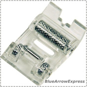 BlueArrowExpress Roller Presser Foot - New Improved Style For Brother Sewing Machines- fits Low Shank -Leather, Suede, Vinyl