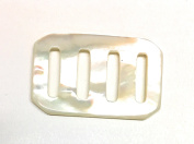 Mother of Pearl Belt Buckles for Women 2.5cm - 1.3cm Inch Rectangle Buckle -