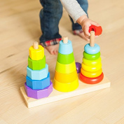 Fat Brain Toys GeoPeg Stacking Tower