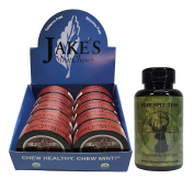 Jake's Mint Chew POUCH - 10 Cans - Includes Mud Bud Disposable Spittoon (Cinnamon POUCH)