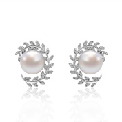 L / C. Europe And The United States Simple Fashion Ladies Zircon Pearl Earrings