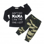 CHIC-CHIC Baby Boys Toddler Camouflage Long Sleeve T-shirt Sweatshirt Tops + Long Pants Outfits Clothes Clothing Set
