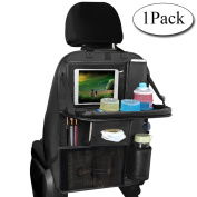 Car Seat Organiser, AresKo Car Tray Table Multi-Pocket Travel Storage With Touch Screen iPad Holder for Car Tidy