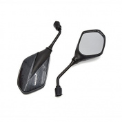DealMux 2Pcs Black Grey Adjustable Rearview Blind Spot Mirrors for Motorcycle Motorbike