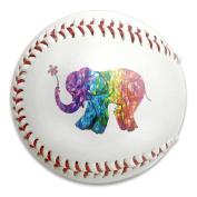 Colourful Happy Elephant Size 9 Safety Soft Baseballs Bullet Ball Training Ball White
