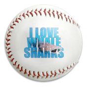 I Love Whale Sharks Size 9 Safety Soft Baseballs Bullet Ball Training Ball White