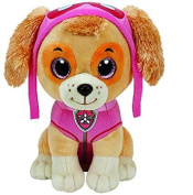 Authentic Ty Beanie Boos Paw Patrol SKYE - Cockapoo Dog Reg Plush + Free Pack of Paw Patrol Crayons