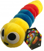 Slither.io 20cm Bendable Plush Toy with tag - Red & blue with Yellow face colour