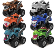 Joyin Toy 6 Pack Monster Friction Powered Truck Vehicles Big Tyre Wheel Car Playset