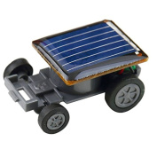 Axier Solar Powerd Car, World's Smallest Solar Powered Car - Educational Solar Powered Toy-Best Gift for Your Child,Black,2Pcs