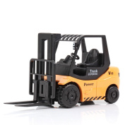 Axier Forklift Car Toy Metal Model Engineering Vehicle£¬ Both for Gift and Collection (Orange)for kids Age above 3Y