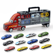 Axier Transport Car Carrier Truck Toy , Toys for Boys (includes 12 cars )Best Gift for Your Child