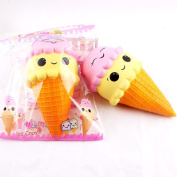 Emoji Squishy Toy, UBuyit Cute Jumbo Ice Cream Squeeze Toy Slow Rising Healing Toy Stress Reliever Decor Simulation Kid