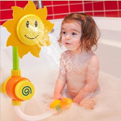 Miss.AJ Baby Bath Shower Toys Sunflower Baby Bath Water Shower Spray Bathing Tub Fountain Early Educational Toys for Kids Gifts
