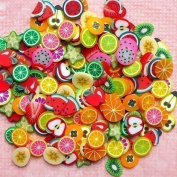 DECORA 8 Cases of Fruit Cake Flower Animal Slices Perfect for Sticking to Slime, DIY Crafts, Nail Art and Decoration