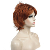 Lydell Short Layered Shaggy Full Synthetic Wig Wigs 130A Fox Red