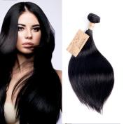 Human Hair 1 Bundle 46cm 100g Straight 7A Grade Brazilian Virgin Remy Human Hair Weaves Extensions Natural Black by MONIKAHAIR