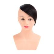 Human Hair Clip Bangs 20cm Brazilian Remy Human Hair Fringe Clip In Human Hair Extension