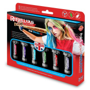 Paint Glow Rebellious Hair Streaks Kit Temporary Semi Permanent Set