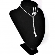 Lucoo Fashion Prom Wedding Bridal Jewellery Crystal Rhinestone Necklace Earring Sets
