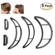 Frcolor 5PCS Big Bumpits Happie Hair Volumizing Inserts Hair Pump Beauty Set Tool Gift