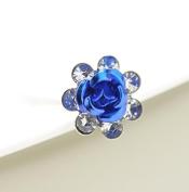 Enking Crystal Rose Flower Hair Pins Clip