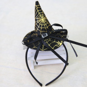 Elaco Halloween Party Witch Cap Hat Spider Party Props Headbands Accessories