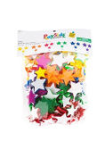 Playside Creations, Glitter Star Foam Stickers, . 8 x 1. 190cm , Assorted Colours, 234 Pieces