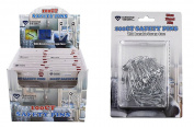 Diamond Visions 11-1658 100 Count Small Medium Large Safety Pins MultiPack Each With a Reusable Case